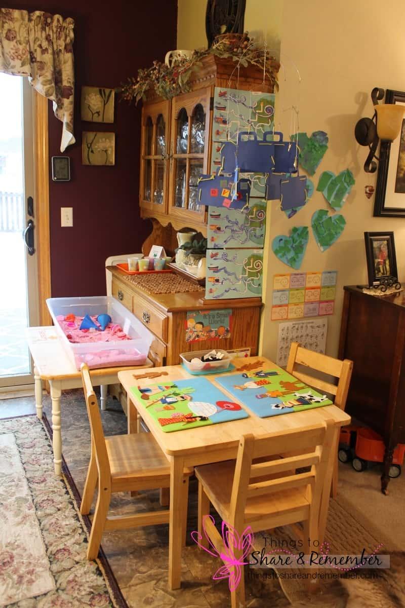 Around Our Room Small World Preschool Theme