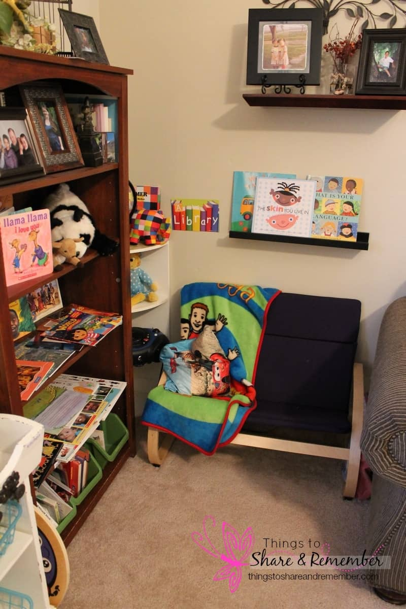 preschool library quiet corner