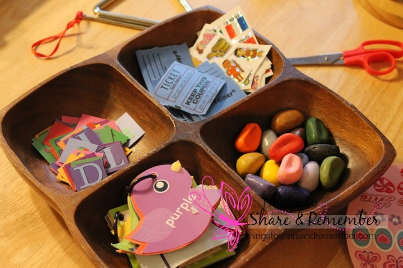 art and writing materials tray