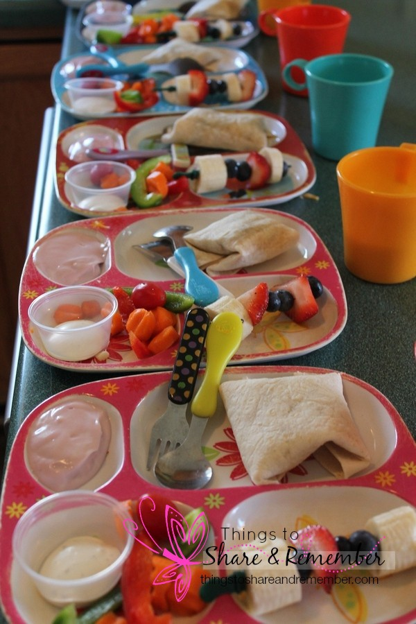 taco, fruit kabob, yogurt, raw vegetables with Ranch, milk  Homemade & Healthy Child Care Lunches