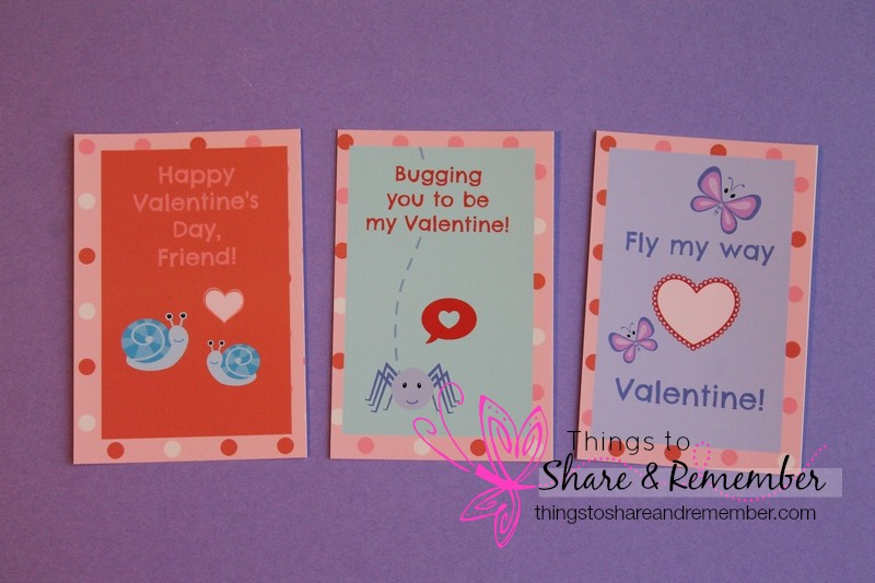 Printable bug valentines - Share & Remember