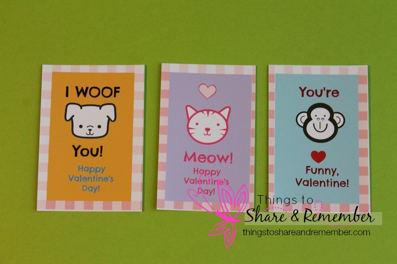Printable Valentines -pets - Share & Remember