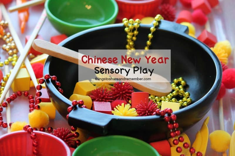 Chinese New Year Preschool Sensory Play
