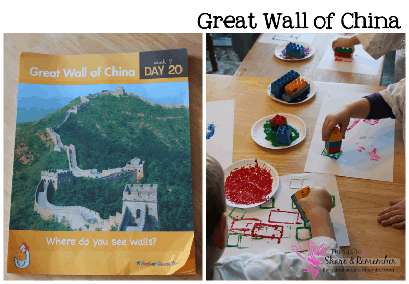 Preschoolers can learn about the Great Wall of China