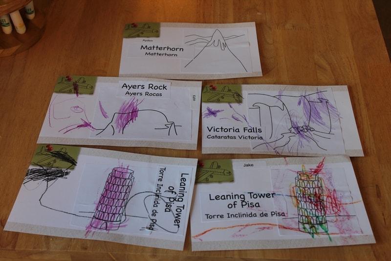 postcards small world preschool theme