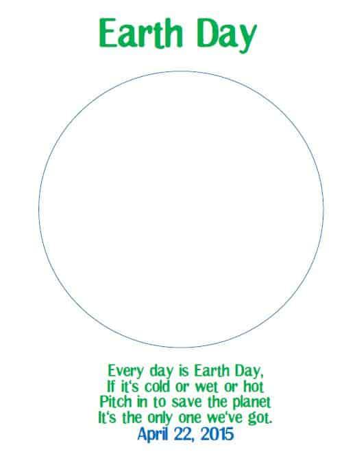 Earth Day Printable 2015