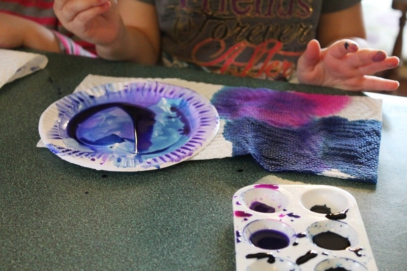 painting oyster shells craft