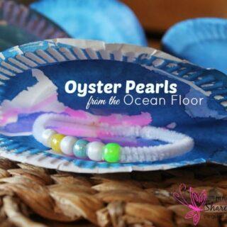 oyster pearl preschool ocean craft #MGTblogger