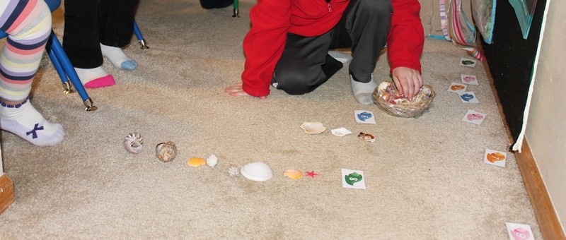 counting shells preschool math #MGTblogger