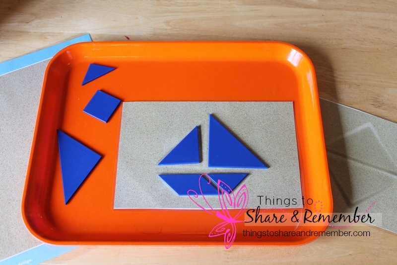 tangram triangle shape mats