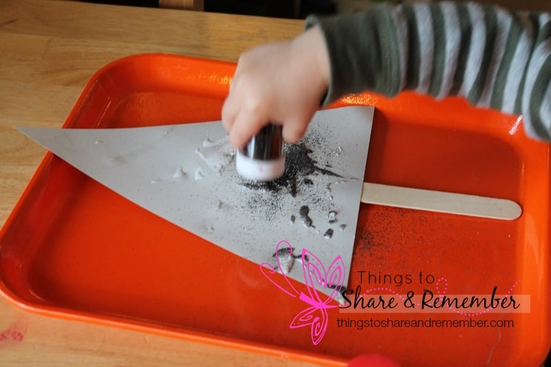 glitter shark fin craft for preschoolers