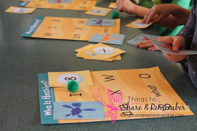 Who is Hatching? Game for preschool basics ocean theme