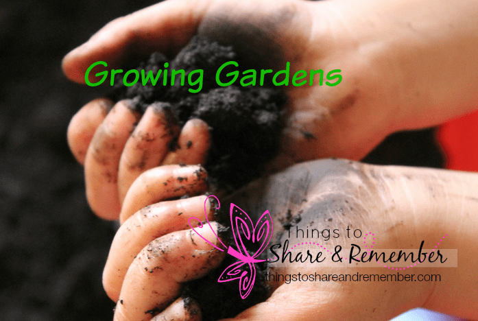 sensory play with soil