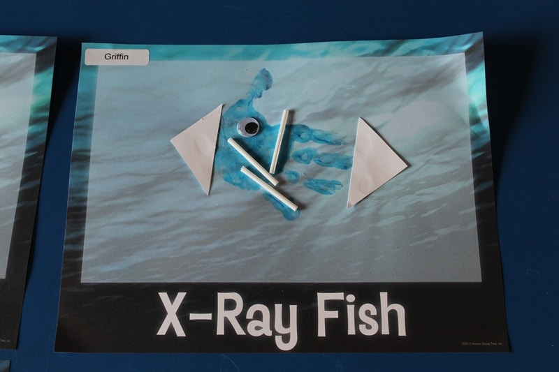 x-ray fish handprint art