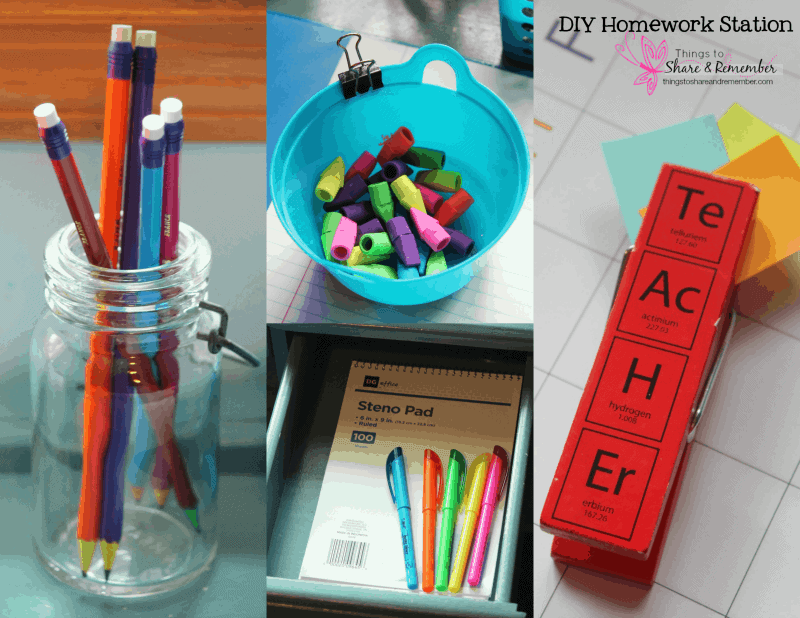 DIY Homework Station & Printable Student Planner #AD