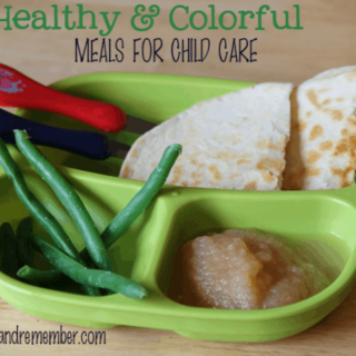Healthy & Colorful Meals for Child Care