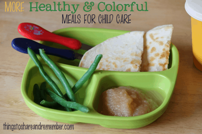 More Healthy & Colorful Meals for Child Care