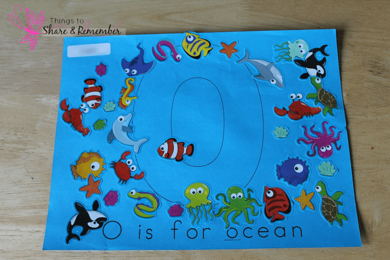 O is for Ocean Printable