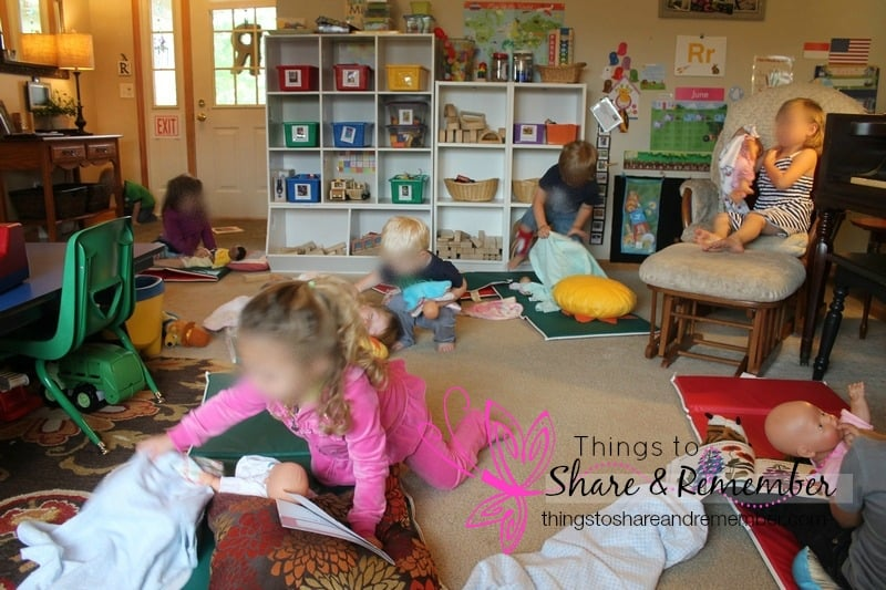 learning about rooms of the house - making beds for babies