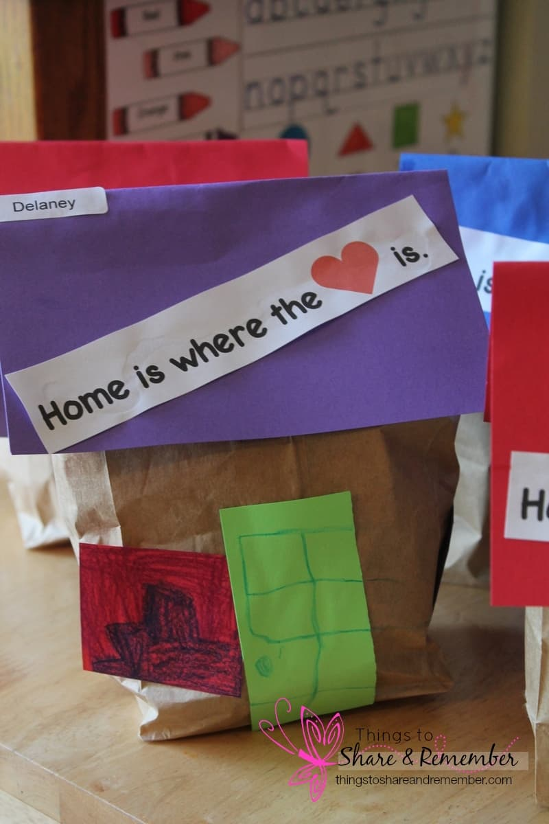 paper bag houses preschool craft