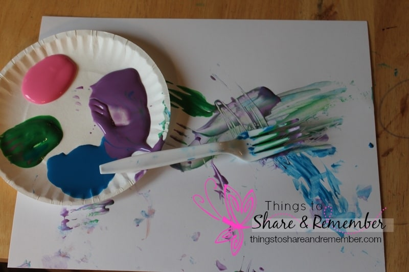 fork painting preschool art