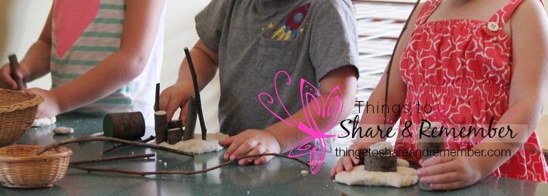 preschool play dough nature items