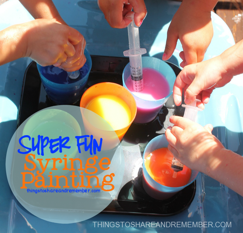 Super Fun Syringe Painting