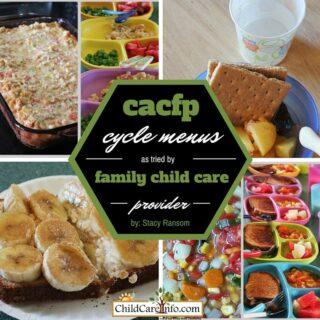 CACFP Summer Cycle Menus and Recipes