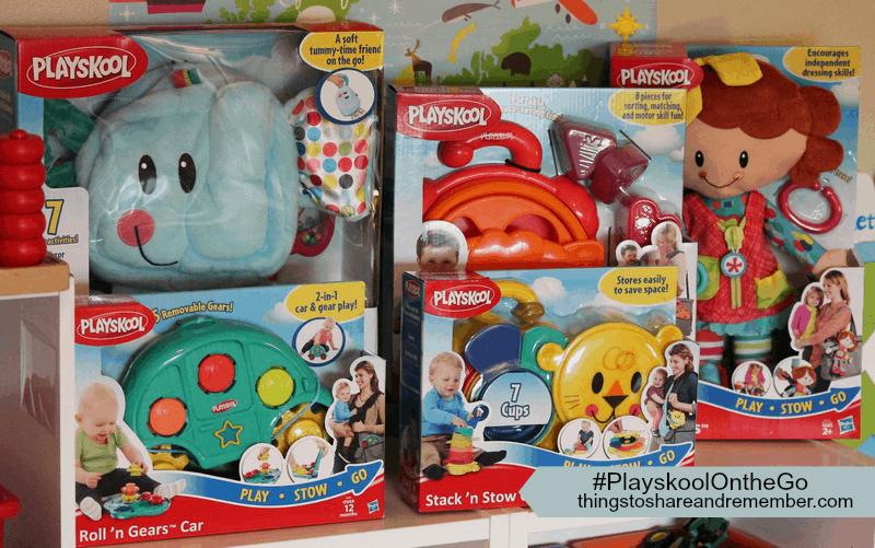 Portable Storable Playskool Toys #PlayskoolOntheGo #ad