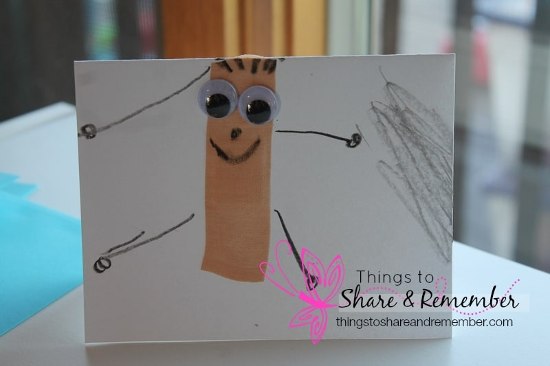 Child made get well card #MGTblogger