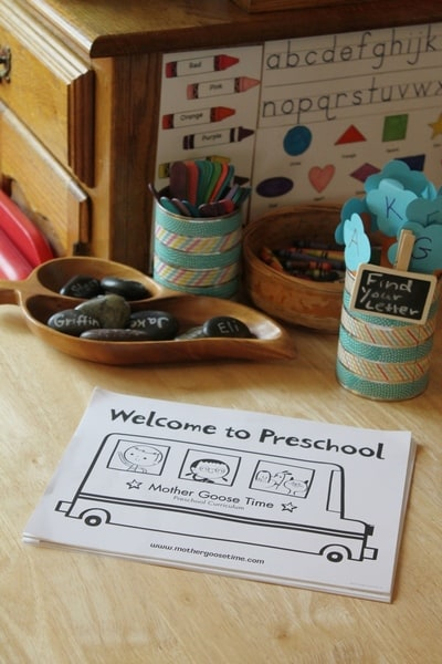 preschool open house coloring page #MGTblogger