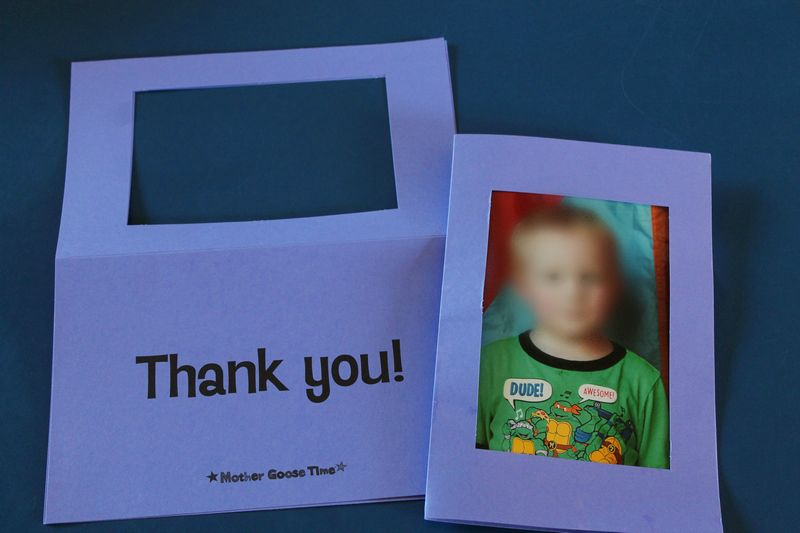 preschool open house thank you photo cards #MGTblogger