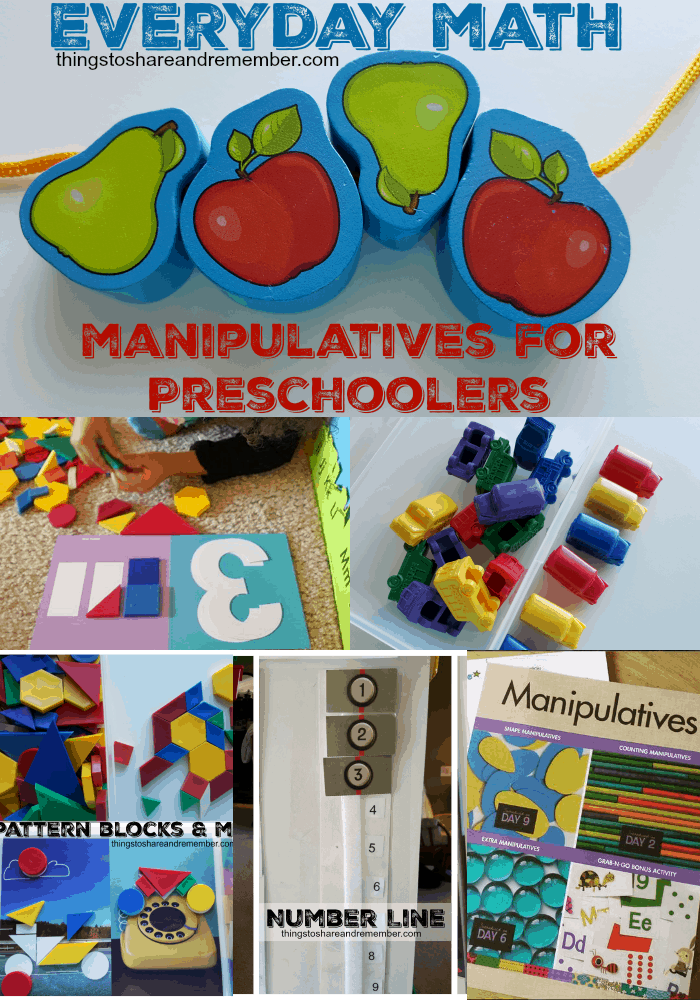 Everyday Math Manipulatives for Preschoolers