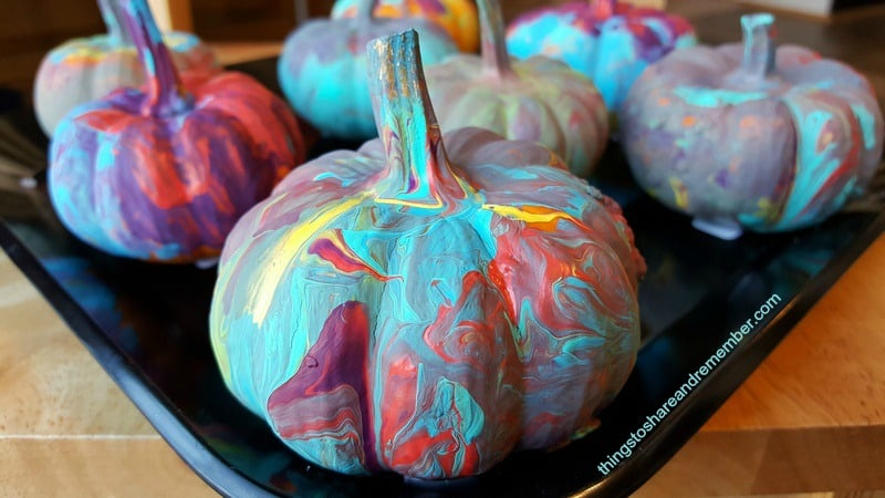 Mini Painted Pumpkins