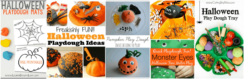 More Play Dough Ideas for Halloween