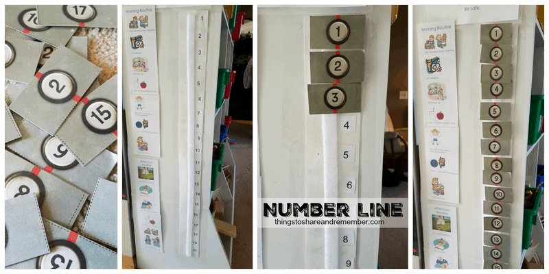 Number Line for Preschoolers #MGTblogger