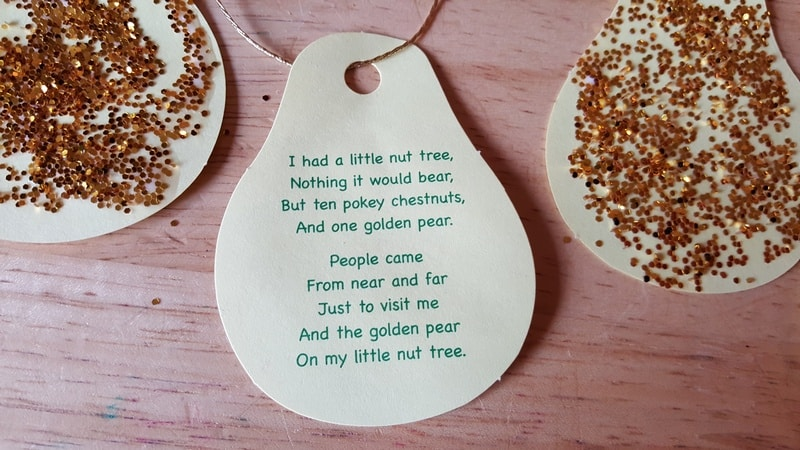 Chestnut tree pear poem