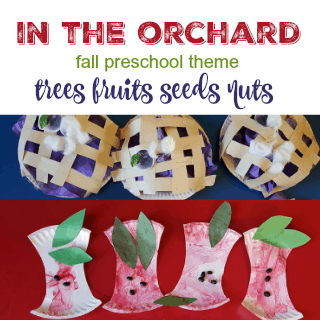 in the orchard fall preschool theme