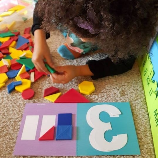 Pattern Blocks & Math Mat