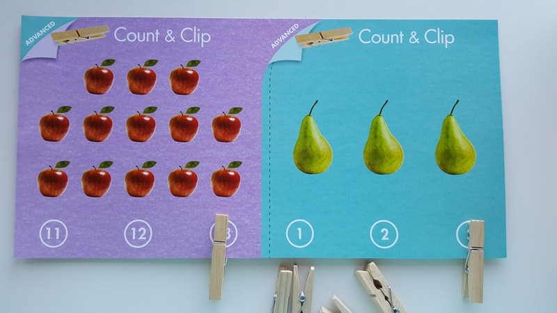 Count & Clip Cards Preschool Math