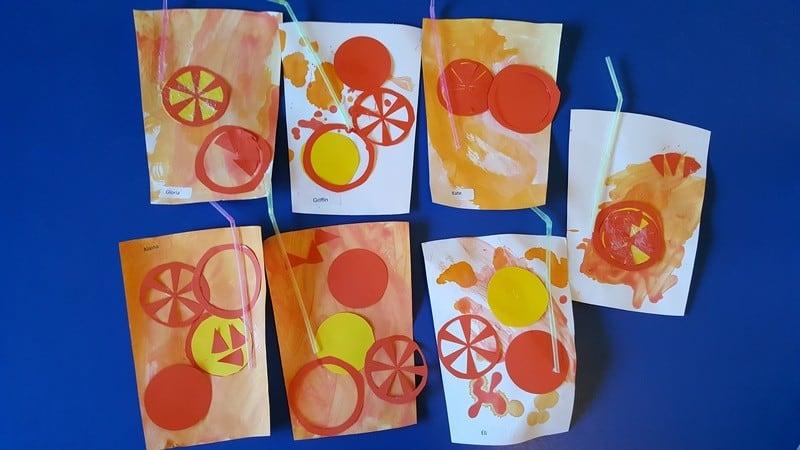 orange juice cup art