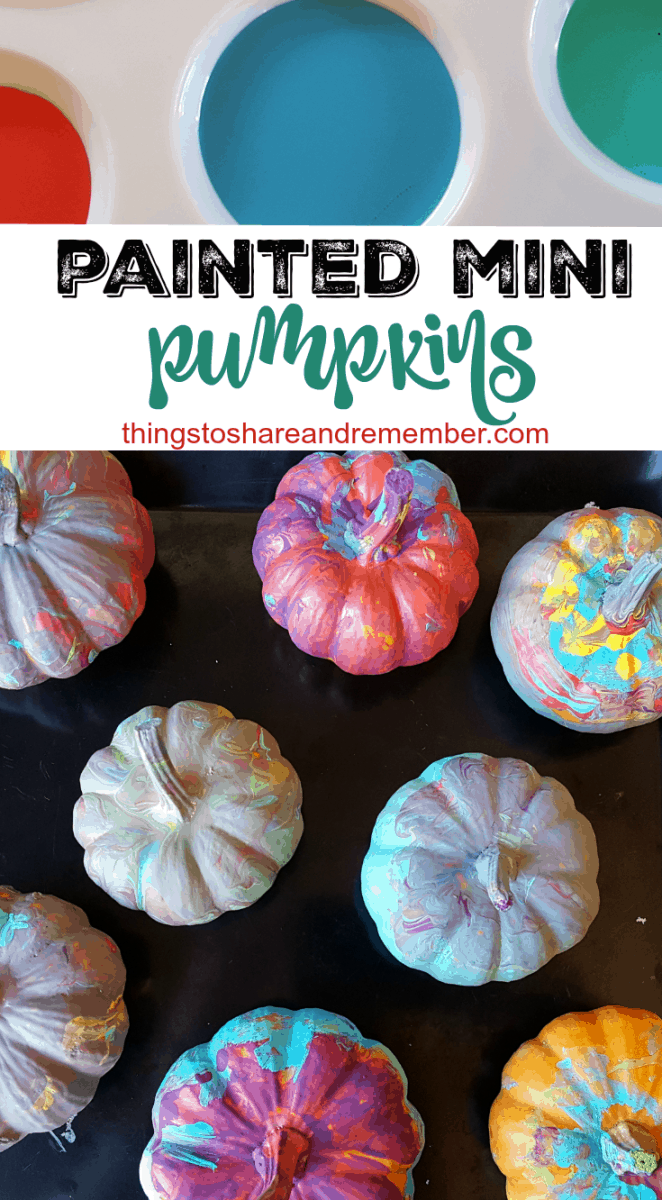 Painting Mini Pumpkins in Preschool