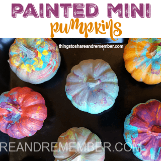 painted mini pumpkins