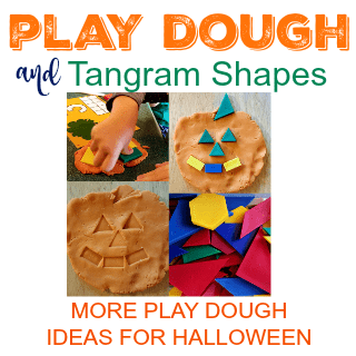 Play Dough & Tangram Shapes more play dough ideas for Halloween
