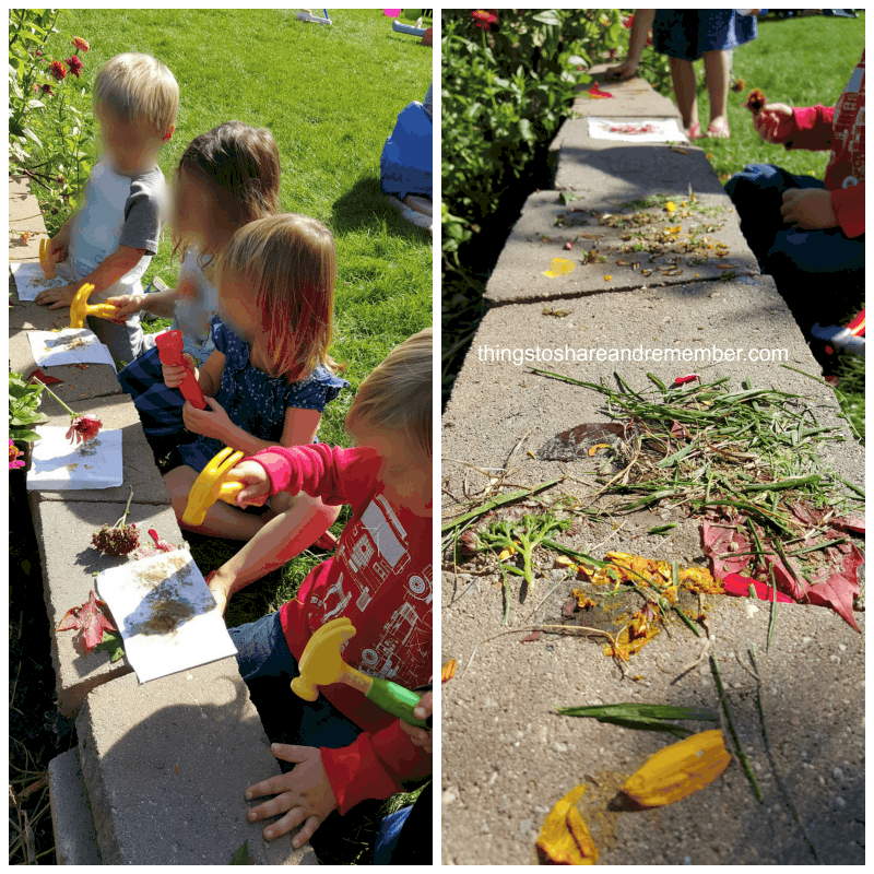 pounding colors science and nature activity for preschoolers #MGTblogger
