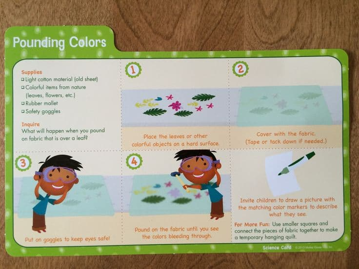 pounding colors science card