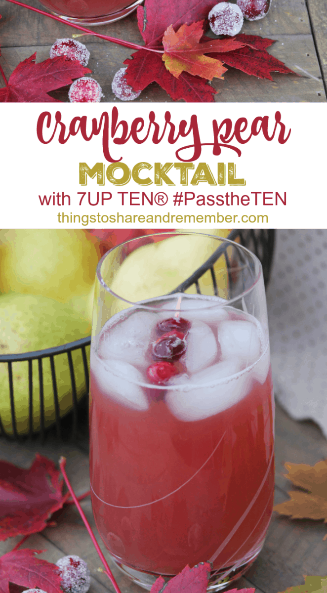 Cranberry Pear Mocktail Recipe #ad #PasstheTen