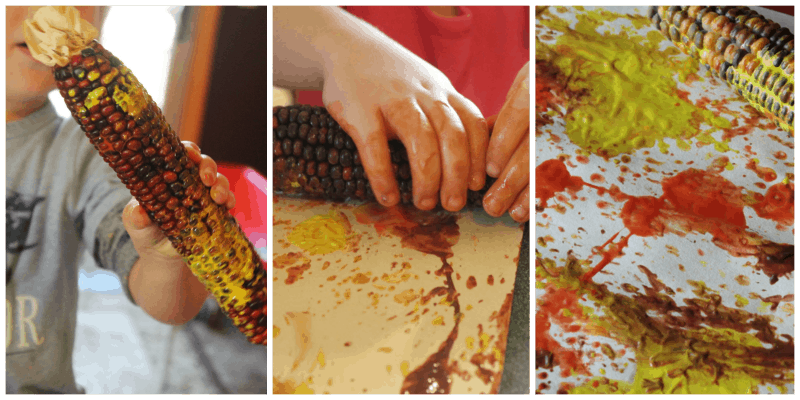 Painting with Indian Corn