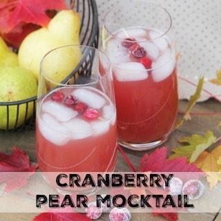 Cranberry Pear Mocktail Recipe #ad #PasstheTen