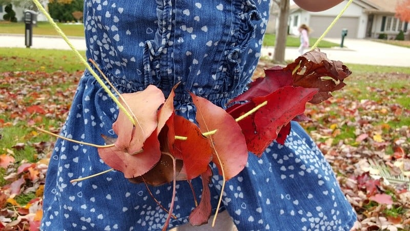 Make a Leaf Garland - Share & Remember